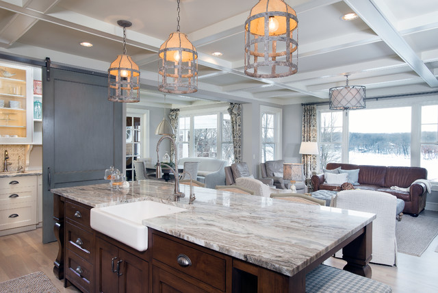 Authentic Charm Transitional Kitchen Grand Rapids By Mike - Brown and grey kitchen designs