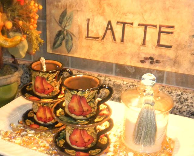 Autumn Coffee Tray Traditional Kitchen DC Metro