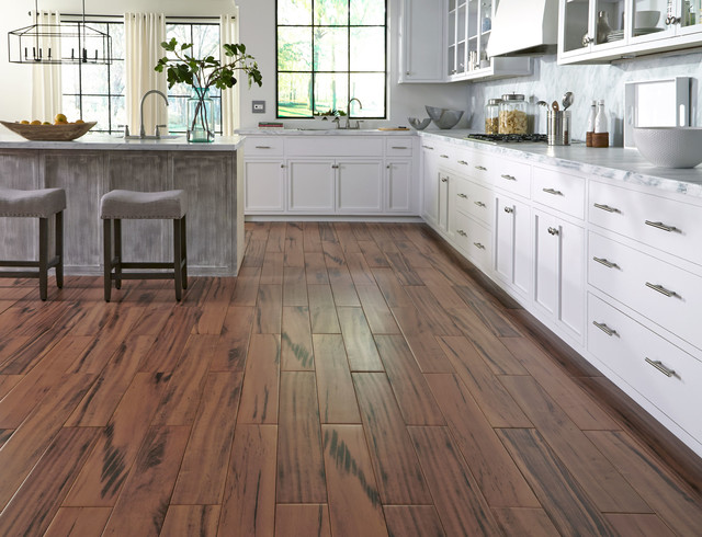 "Avella 36""x6"" Brazilian Koa Porcelain Flooring - Contemporary - Kitchen - Other - by Lumber ..."