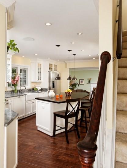 Award Winning Kitchen in Reston, Virginia Touts Curved Island kitchen