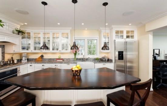 Award winning kitchen in reston virginia touts curved for Award winning kitchen island designs