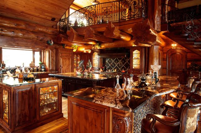 Awesome Log Cabinrustic Kitchen Dallas