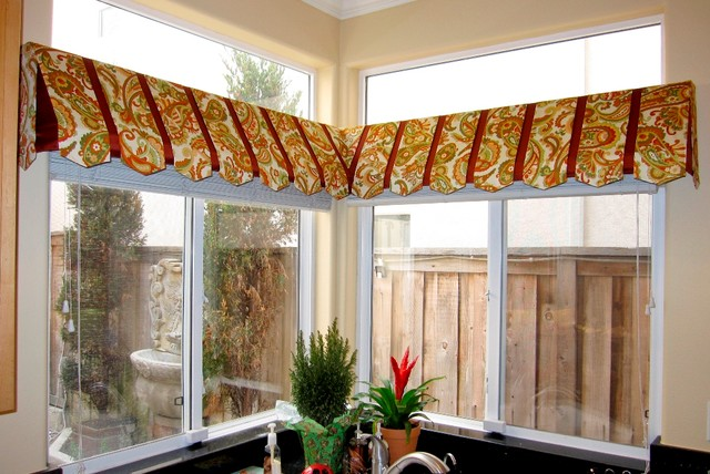 Awning Valance Traditional Kitchen Orange County