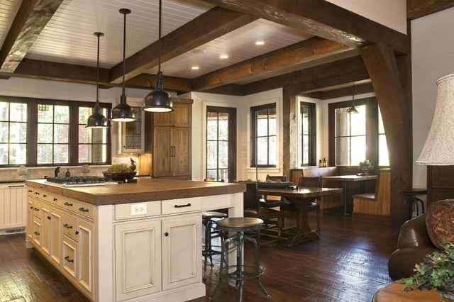 Rustic Lakehouse  kitchen