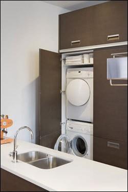 Back Bay Penthouse modern-kitchen