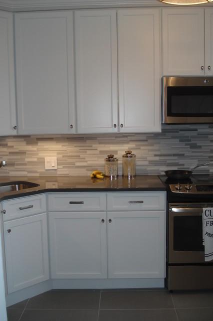 Back Bay Reface - Modern - Kitchen - Boston - by Kitchen Tune-Up - Newton, MA