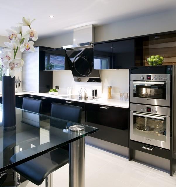 Back In Black Contemporary Kitchen Atlanta By