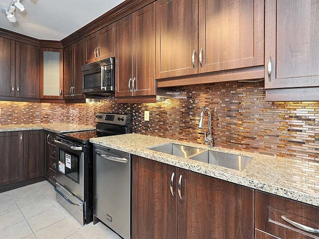 backplash stainless steel mosaic granite countertop by