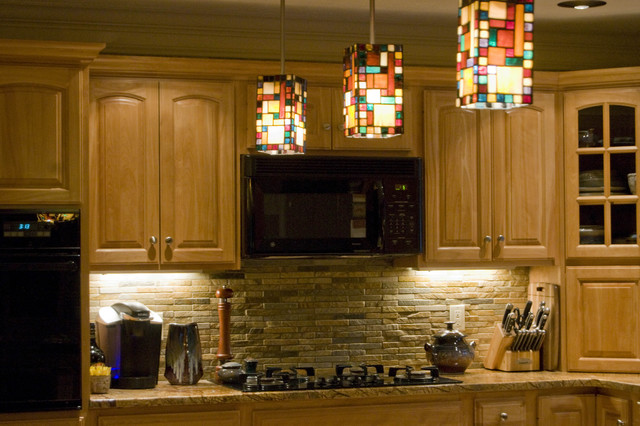 Backsplash- rustic quartzite - eclectic - kitchen - boston - by ...