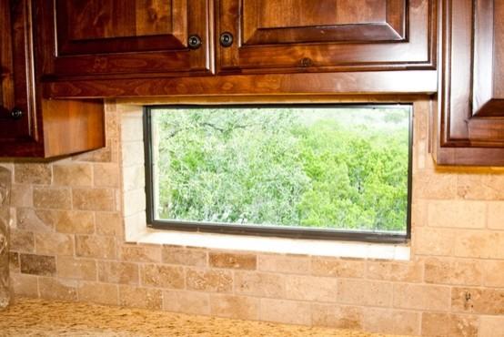 backsplash window mediterranean kitchen houston by
