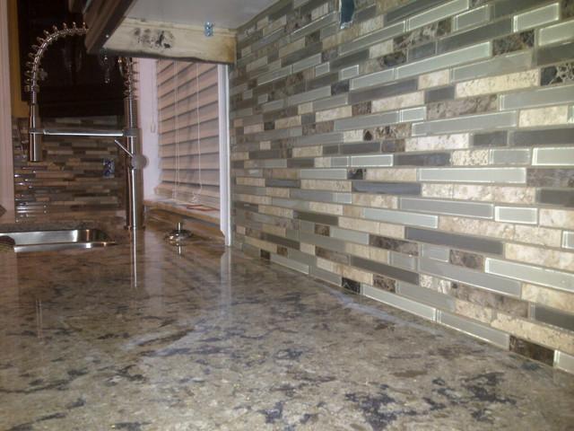 backsplashes glass subway tile backsplash kitchen contemporary with