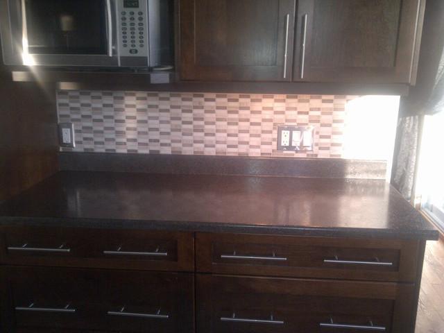 backsplashes subway glass tile backsplash kitchen contemporary with