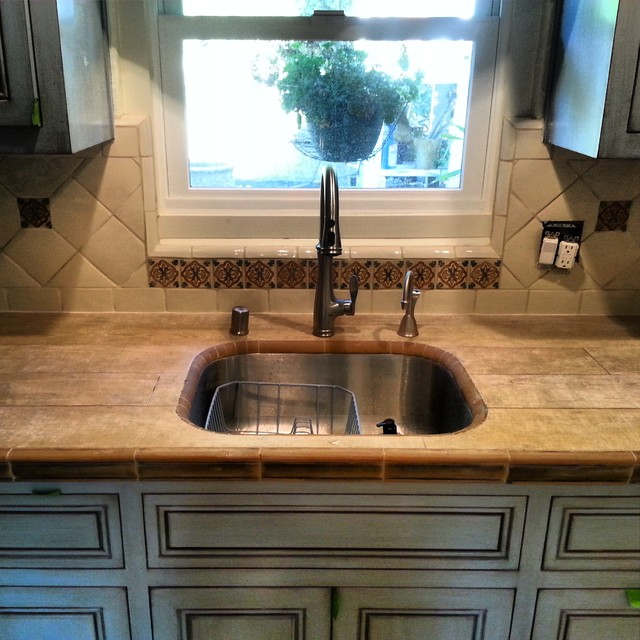 Backsplashes Rustic Kitchen Orange County By