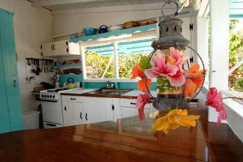 Kitchen in house in the Bahamas