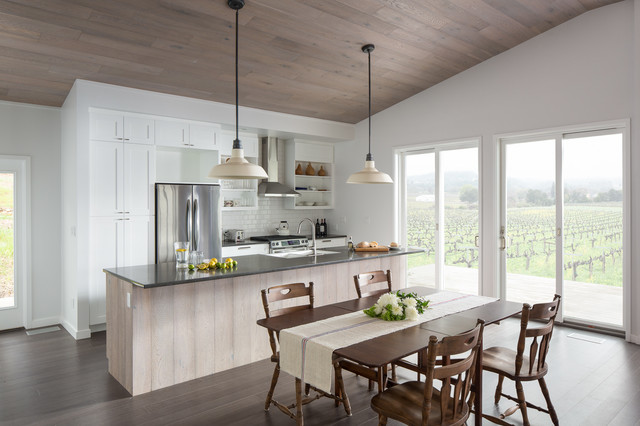 Balance + Origin in California wine country - Farmhouse - Kitchen