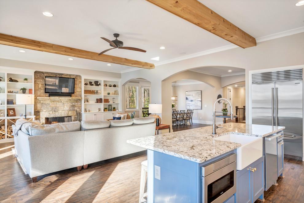 Baldridge Lake Cottage - Contemporary - Kitchen - Atlanta ...