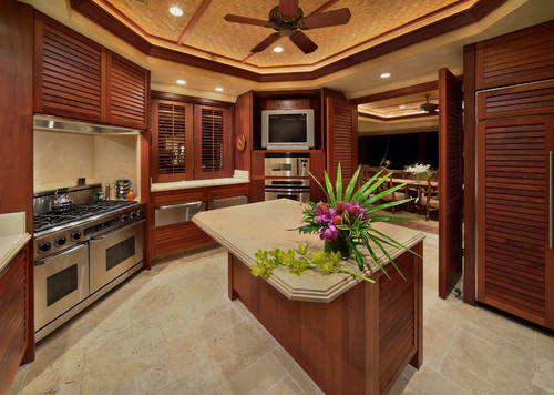 Louvered Cabinet Doors In Kitchen