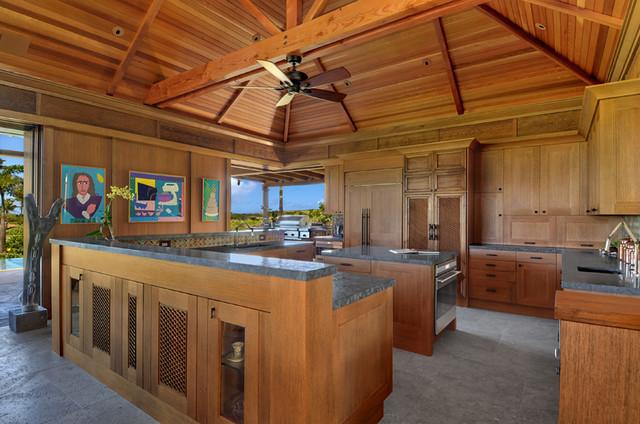 Bali Pavillions on Kauai tropical-kitchen