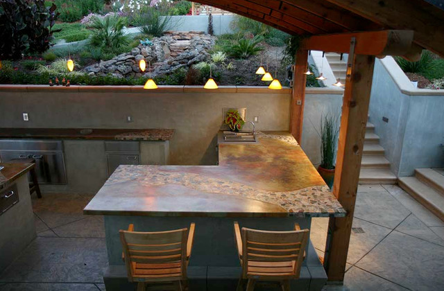 balinese rainforest tile concrete countertops & outdoor exterior