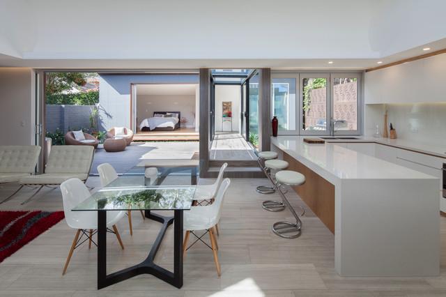 Balmain residence open plan kitchen dining living by - La residence kitchel par boora architects ...