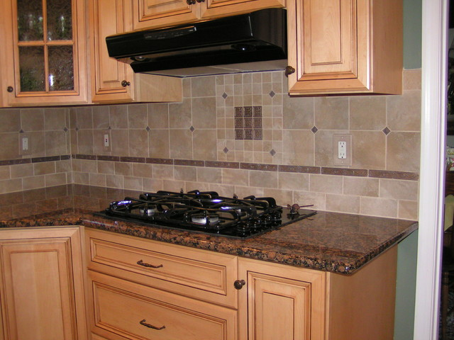 Baltic Brown Granite & Tile Backsplash