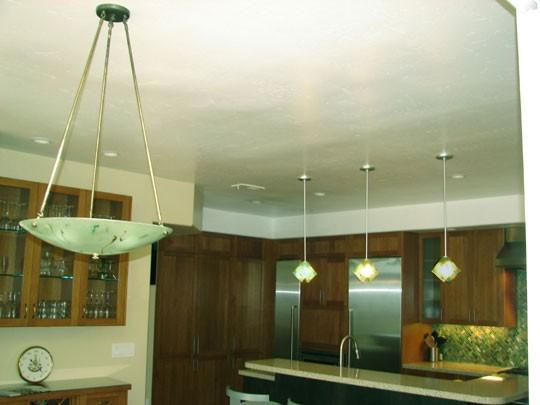 Bamboo and Diagonal Weave Backsplash asian-kitchen