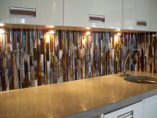 Bamboo backsplash Bamboo backsplash