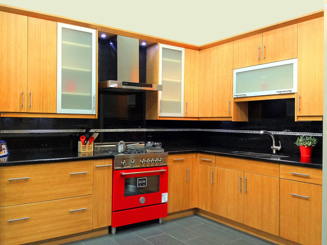 Bamboo Flat Panel Kitchen Cabinets Contemporary San Francisco By Glenn Rogers Cabinet Broker