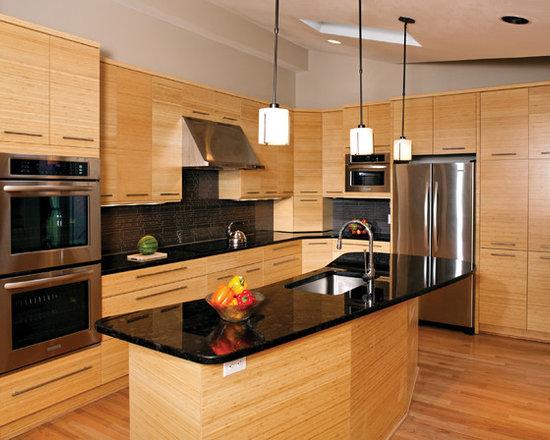 Bamboo kitchen photo enhancement for Asian kitchen design ideas