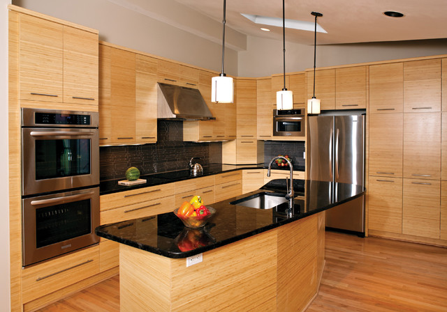 Bamboo kitchen asian kitchen oklahoma city by for Bamboo kitchen cabinets