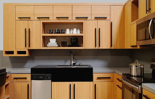 Bamboo Slab Showroom Contemporary Kitchen Other Metro By Domain Cabinets Direct Inc
