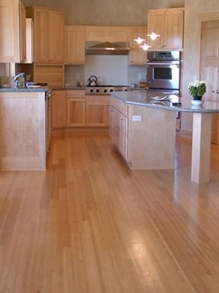 Bamboo Wood Floors kitchen