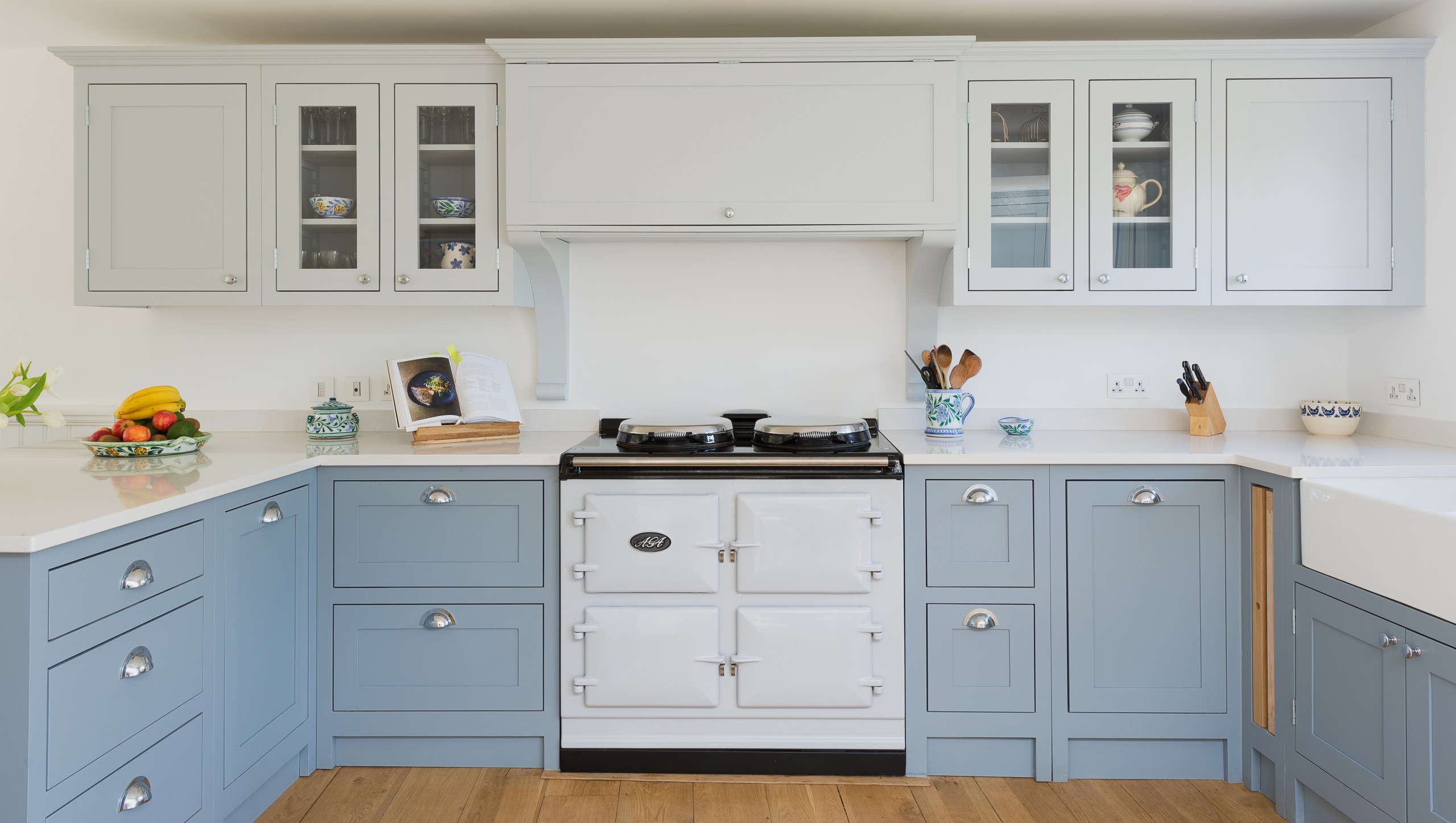 75 Beautiful Farmhouse Blue Kitchen Pictures Ideas January 2021 Houzz