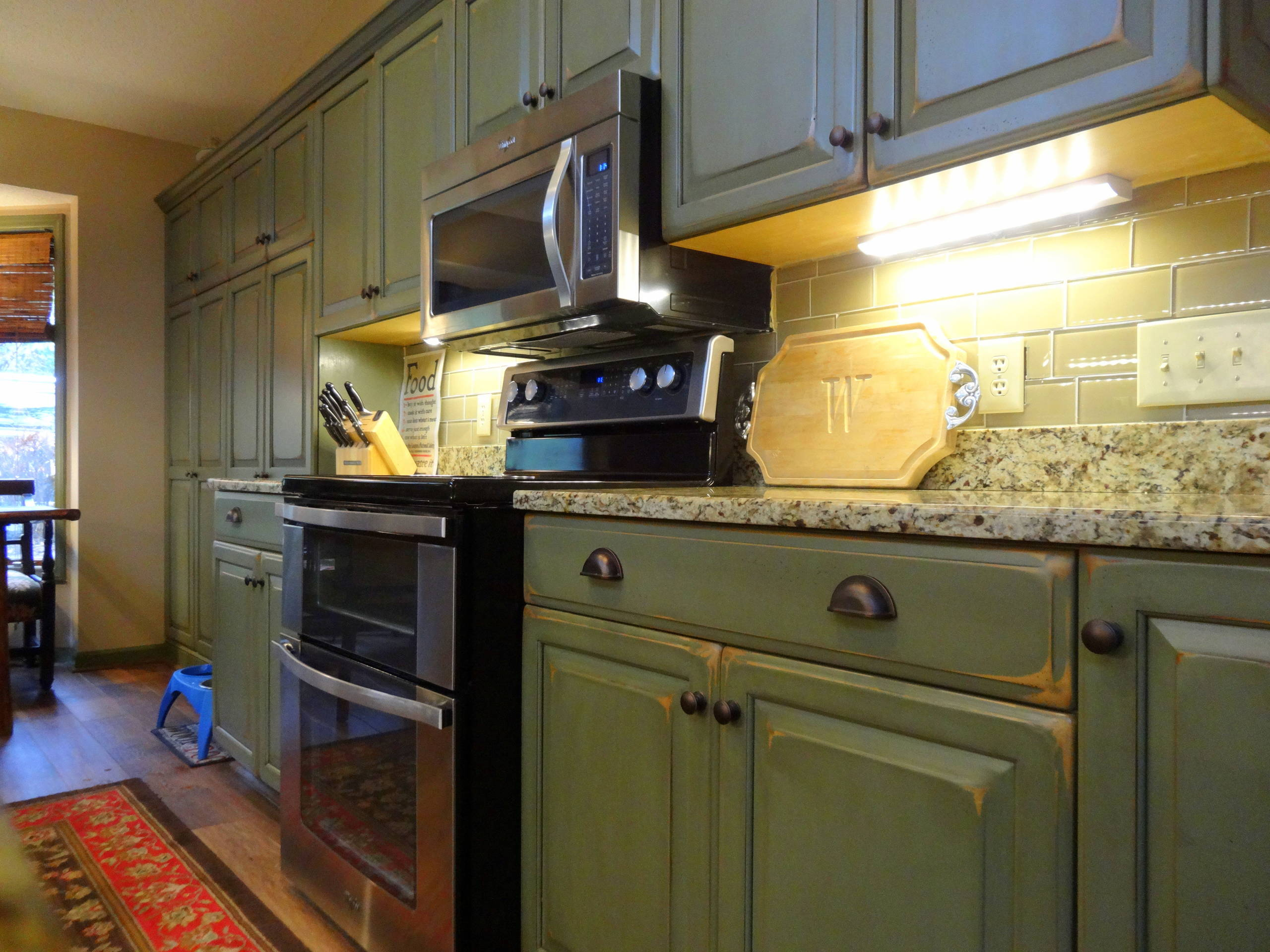 Olive Green Cabinets Houzz