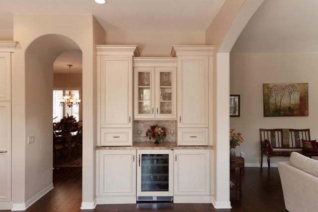 Bar & Drink Area in Mediterranean Style Kitchen Remodel - Mediterranean - Kitchen - Los Angeles ...