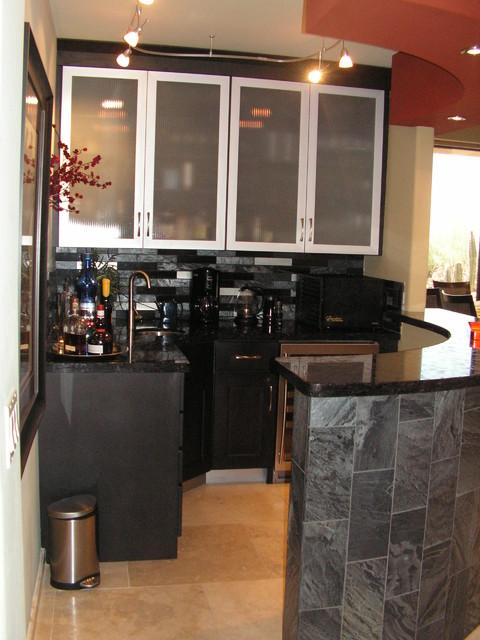 Bar contemporary-kitchen