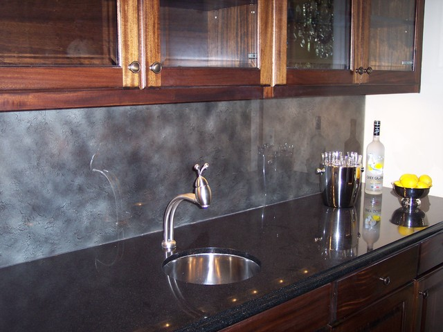 Bar Backsplash Traditional Kitchen Other Metro By S Bumbera Glass Etching