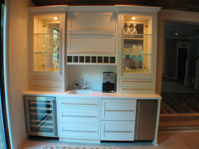 Bar by Cabinet Crafters traditional-kitchen
