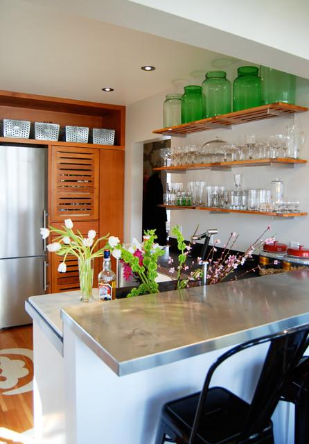 Bar Zinc Counter contemporary-kitchen