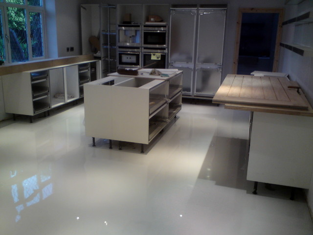Barefoot Comfort Flooring Seamless Resin Poured Polyurethane Floors Contemporary Kitchen Other
