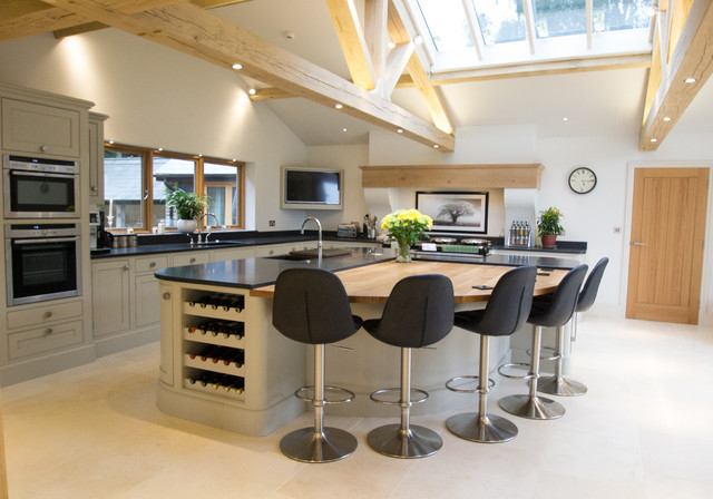Barn Conversion Bespoke Kitchen Traditional Kitchen