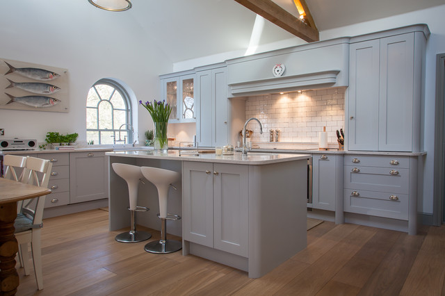 Barn Conversion Handpainted Shaker Kitchen Contemporary Kitchen