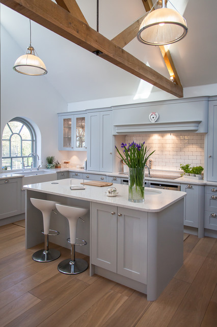 Barn Conversion Handpainted Shaker Kitchen Farmhouse Kitchen