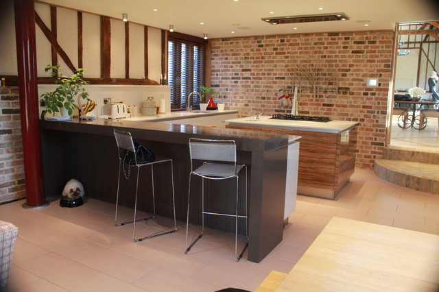 Nice Barn Conversion Kitchen Eclectic Kitchen