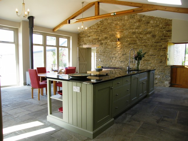 Superieur Barn Conversion, Manor Farm House, Glanvilles Wootton Country Kitchen