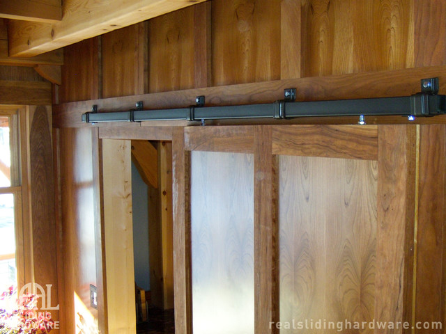 Barn Door Hardware Rustic Kitchen Seattle By Real