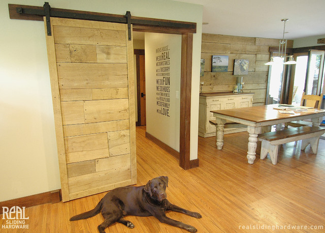 Barn Door Hardware Farmhouse Kitchen Seattle By Real