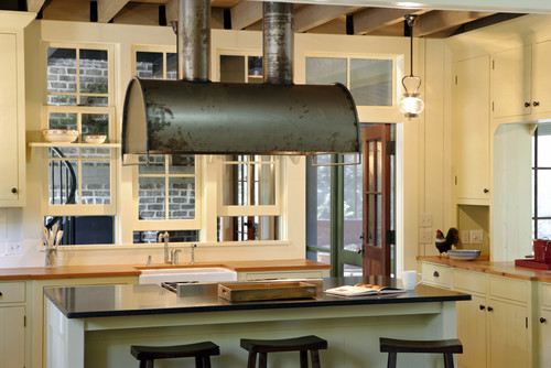 rustic kitchen Beauty Meets Function: Range Hoods