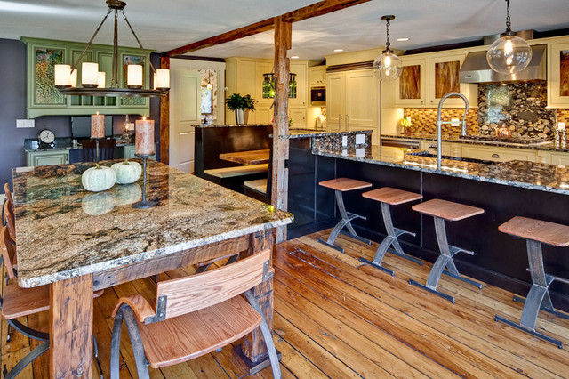 Barn to a Home - Modern Farmhouse traditional-kitchen