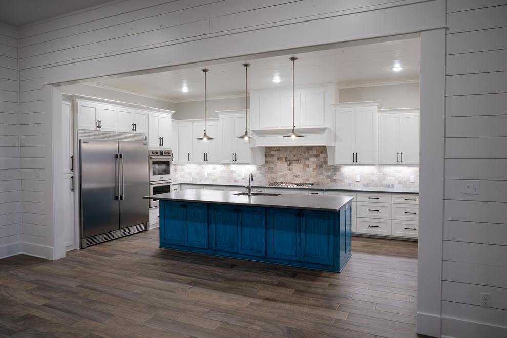 Barndominium Farmhouse Kitchen Dallas By Jayson Chandler Homes Inc Houzz
